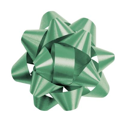 "Emerald Splendorette Star Bows, 14 Loops, 2 3/4"""