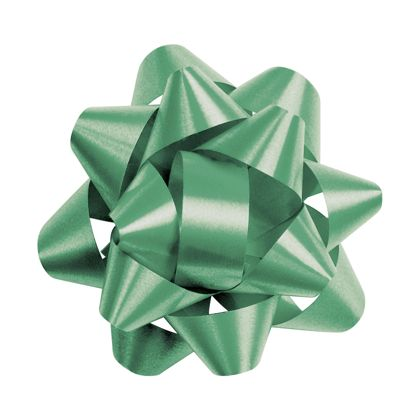 Emerald Splendorette Star Bows, 14 Loops, 2 3/4""
