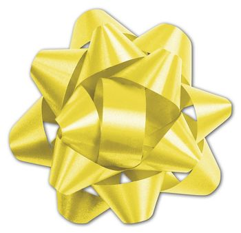 Yellow Splendorette Star Bows, 14 Loops, 2 3/4
