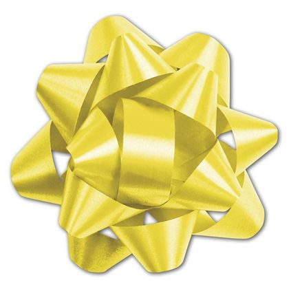 Yellow Splendorette Star Bows, 14 Loops, 2 3/4""