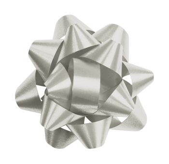 Silver Splendorette Star Bows, 14 Loops, 2 3/4