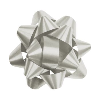 Silver Splendorette Star Bows, 14 Loops, 2 3/4