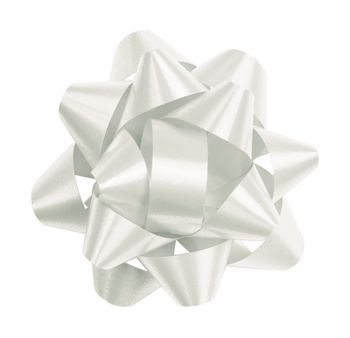 White Splendorette Star Bows, 14 Loops, 2 3/4