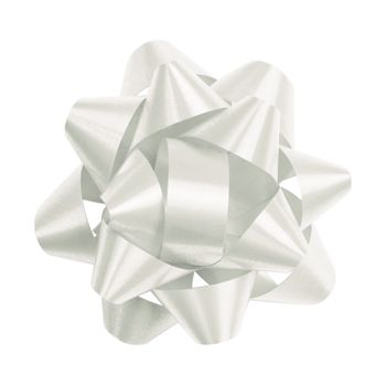 White Splendorette Star Bows, 14 Loops, 2 3/4""
