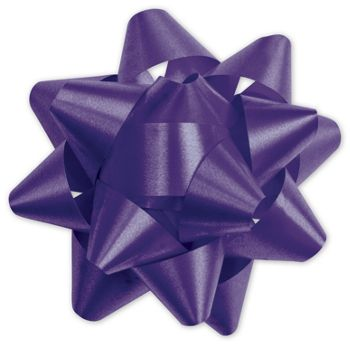 Purple Splendorette Star Bows, 15 Loops, 3 3/4