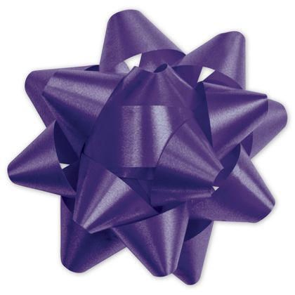 Purple Splendorette Star Bows, 15 Loops, 3 3/4""