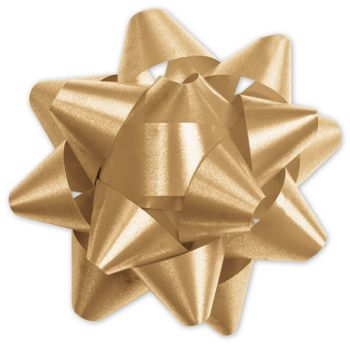 Gold Splendorette Star Bows, 15 Loops, 3 3/4