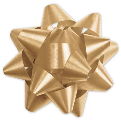Gold Splendorette Star Bows, 15 Loops, 3 3/4""