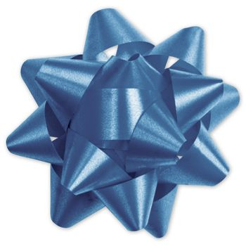 Royal Blue Splendorette Star Bows, 15 Loops, 3 3/4""