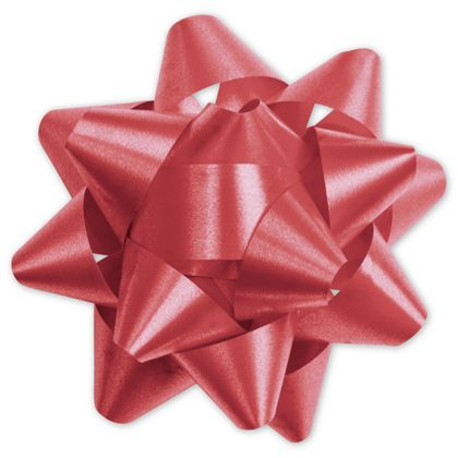 Red Splendorette Star Bows, 15 Loops, 3 3/4""
