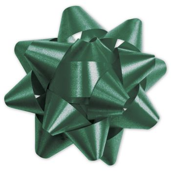 Hunter Green Splendorette Star Bows, 15 Loops, 3 3/4""