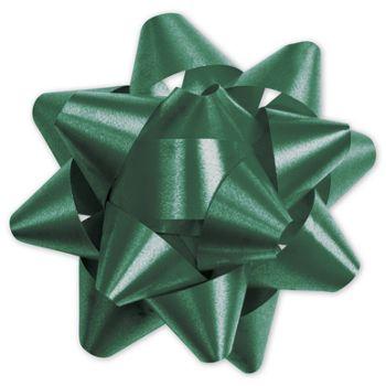 Hunter Green Splendorette Star Bows, 15 Loops, 3 3/4
