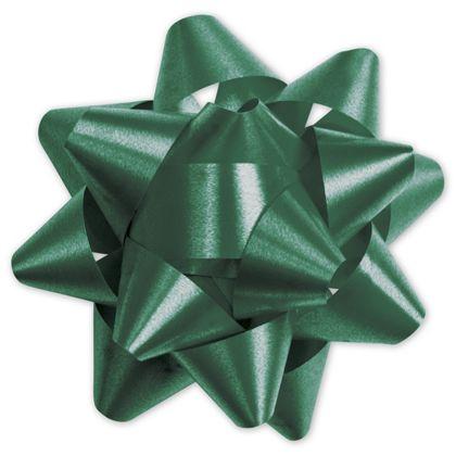 """Hunter Green Splendorette Star Bows, 15 Loops, 3 3/4"""""""