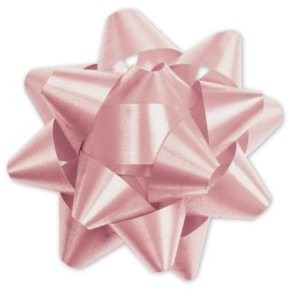 Light Pink Splendorette Star Bows, 15 Loops, 3 3/4""