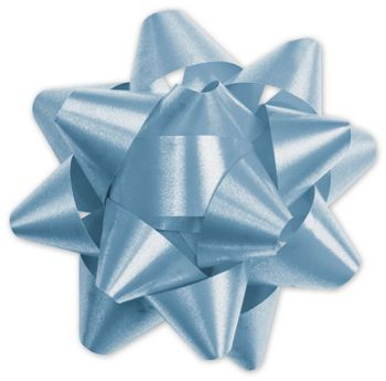 Light Blue Splendorette Star Bows, 15 Loops, 3 3/4