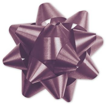 Burgundy Splendorette Star Bows, 15 Loops, 3 3/4
