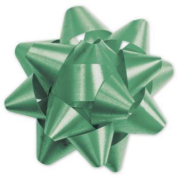 Emerald Splendorette Star Bows, 15 Loops, 3 3/4