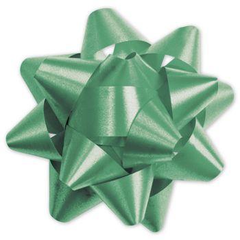 Emerald Splendorette Star Bows, 15 Loops, 3 3/4