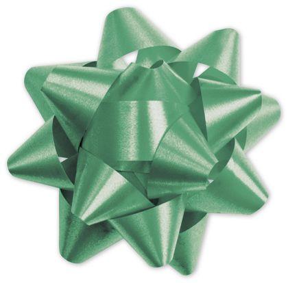 "Emerald Splendorette Star Bows, 15 Loops, 3 3/4"""