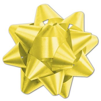 Yellow Splendorette Star Bows, 15 Loops, 3 3/4