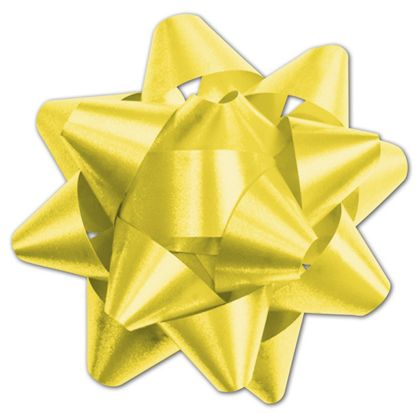 "Yellow Splendorette Star Bows, 15 Loops, 3 3/4"""