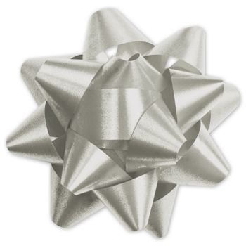 Silver Splendorette Star Bows, 15 Loops, 3 3/4