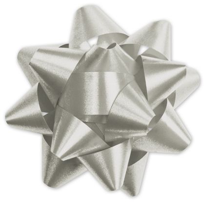 Silver Splendorette Star Bows, 15 Loops, 3 3/4""