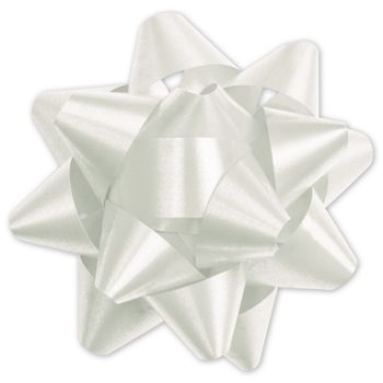 White Splendorette Star Bows, 15 Loops, 3 3/4