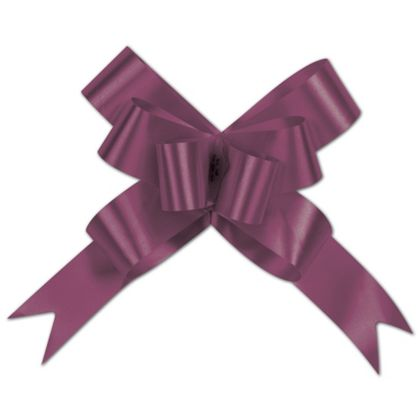 Burgundy Butterfly Bows, 4""