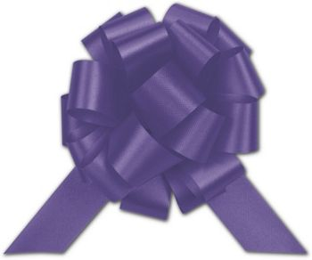 Purple Satin Perfect Pull Bows, 18 Loops, 4