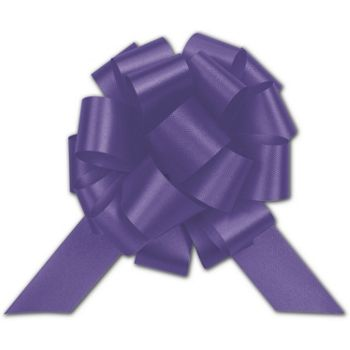 Purple Satin Perfect Pull Bows, 18 Loops, 4""