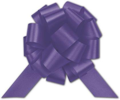 "Purple Satin Perfect Pull Bows, 18 Loops, 4"""