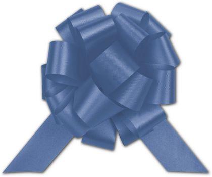 """Royal Blue Satin Perfect Pull Bows, 18 Loops, 4"""""""