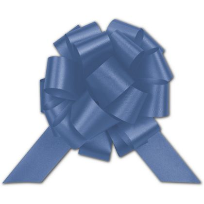 Royal Blue Satin Perfect Pull Bows, 18 Loops, 4""