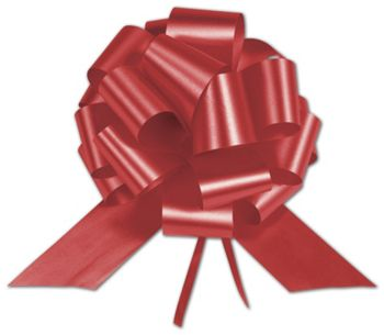Red Satin Perfect Pull Bows, 18 Loops, 4
