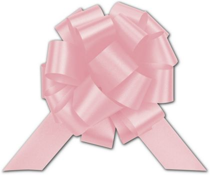 Light Pink Satin Perfect Pull Bows, 18 Loops, 4""