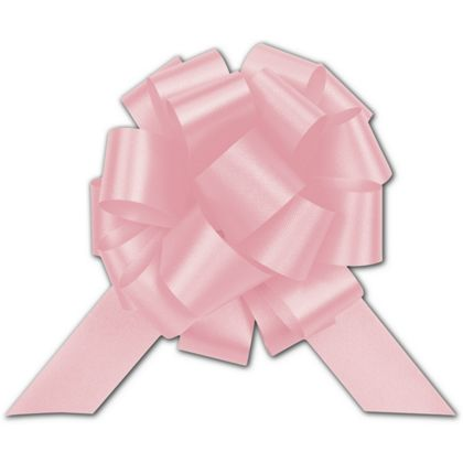 """Light Pink Satin Perfect Pull Bows, 18 Loops, 4"""""""
