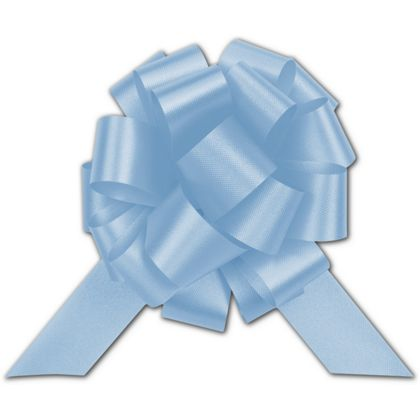Light Blue Satin Perfect Pull Bows, 18 Loops, 4""