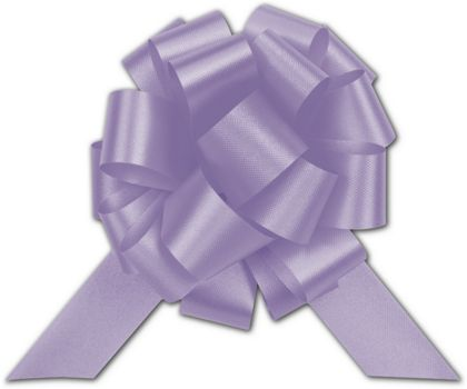 Lavender Satin Perfect Pull Bows, 18 Loops, 4""