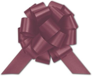 Burgundy Satin Perfect Pull Bows, 18 Loops, 4