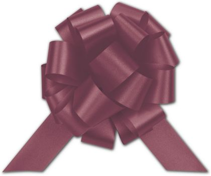 Burgundy Satin Perfect Pull Bows, 18 Loops, 4""