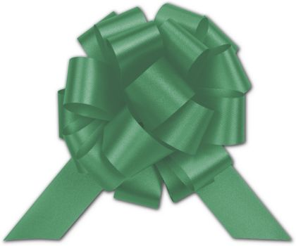 Emerald Satin Perfect Pull Bows, 18 Loops, 4""