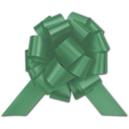 "Emerald Satin Perfect Pull Bows, 18 Loops, 4"""
