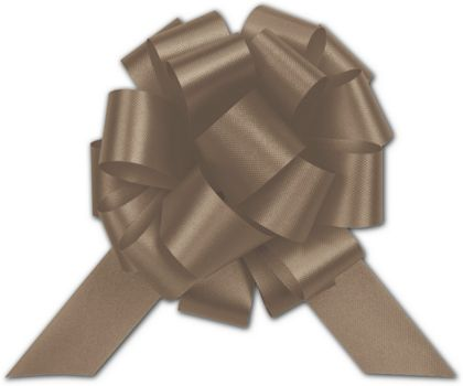 Chocolate Satin Perfect Pull Bows, 18 Loops, 4""