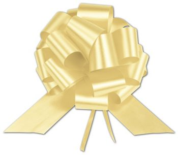 Yellow Satin Perfect Pull Bows, 18 Loops, 4