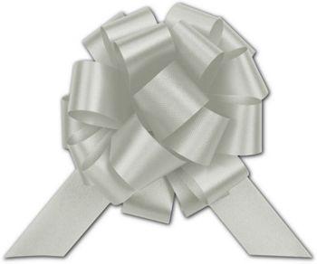 Silver Satin Perfect Pull Bows, 18 Loops, 4