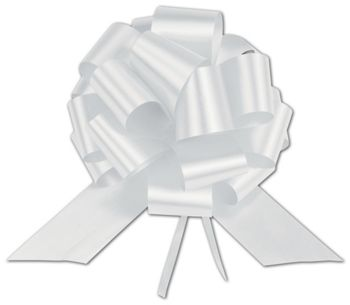 White Satin Perfect Pull Bows, 18 Loops, 4