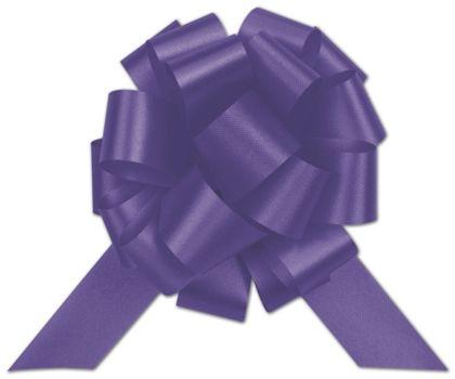 "Purple Satin Perfect Pull Bows, 20 Loops, 5 1/2"""