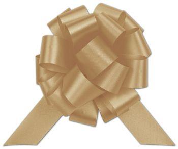 Gold Satin Perfect Pull Bows, 20 Loops, 5 1/2