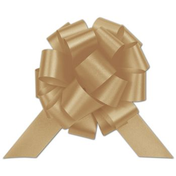 Gold Satin Perfect Pull Bows, 20 Loops, 5 1/2